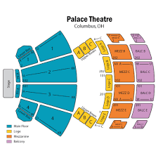 Detailed Cadillac Palace Seating Chart Palace Theater In
