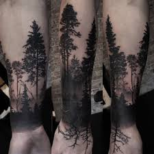 50 Relaxing Forest Tattoo Ideas To Die For Tats N Rings