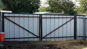 corrugated metal privacy fence. Modren Metal Corrugated Metal Privacy Fence  Cost How To Build A With