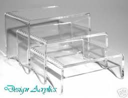 Acrylic Display Stands Uk 100 Set Clear Acrylic Display Stands Risers Plinths 100mm 4