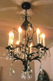 8 arm with all original highest quality crystal the chandelier is 36 inches high 16 inches wide and 16 inches deep
