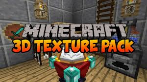 3d texture packs default 3d minecraft texture pack 1 8 1 7 10 youtube