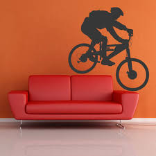 cycling wall art stickers