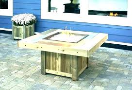 gas fire pit in action diy table instructions backyard propane