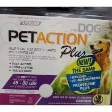 frontline plus ingredients. PetAction Plus 45-88 Three Doses (same Active Ingredients Found In Frontline For Dogs)