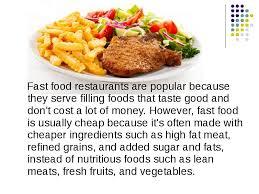 descriptive essay fast food restaurant