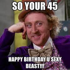 45th Birthday Meme