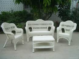 patio furniture white. Wicker Patio Chair Furniture White I