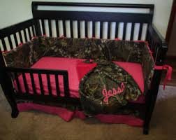 Custom 4 piece Mossy Oak bedding hunter camo camouflage crib bedding Pink  (most colors available