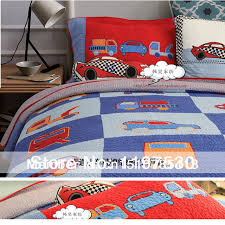 Free shipping Cartoon car kids bedding set boys quilted twin size ... & Free shipping Cartoon car kids bedding set boys quilted twin size summer  handmade patchwork quilt pillow Adamdwight.com