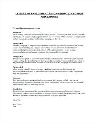 Sample Of Reference Letter For An Employee Sample Of Recommendation Letter For Employee Sample Employment