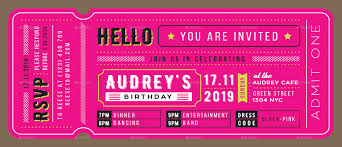 Invitation Ticket Birthday Invitation Ticket Card by TotemDesigns GraphicRiver 1