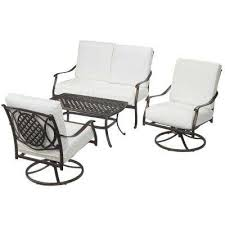 black metal outdoor furniture. Contemporary Outdoor Belcourt Custom Metal 4Piece Patio Conversation Set With Cushions  Included Choose Your Own To Black Outdoor Furniture C