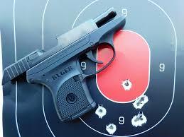 ruger lcp centerfire pistol seven shot group