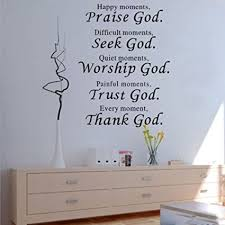 1 x wall vinyl decal quote sign christian praise god diy art sticker home wall decor on kitchen wall art stickers amazon with amazon 1 x wall vinyl decal quote sign christian praise god diy