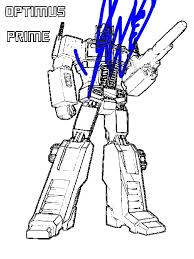 Small Picture Optimus Prime from Transformers Coloring Page Download Print