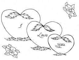Small Picture Hearts and Roses for Mother Coloring Page Hearts and Roses for