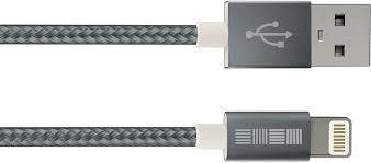 Купить <b>InterStep USB</b>-<b>8pin MFI</b> нейлон <b>1м</b> серый кабель (провод ...