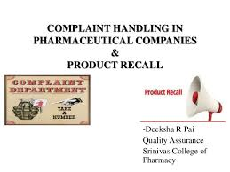 Complaint Letters To Companies Fascinating Market Complaints And Product Recall
