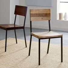 rustic dining chair west elm in metal and wood chairs ideas 2