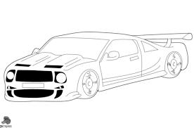 Raceauto Kleurplaat Gratis Kleurplaten Printen