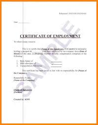 3 Employment Certification Sample Guarantee Chief Accountant