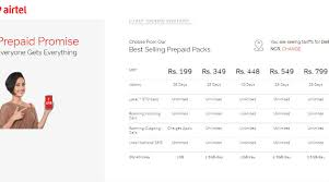 Airtel Recharge Offers Of Rs 799 Rs 549 Up To 98gb Data