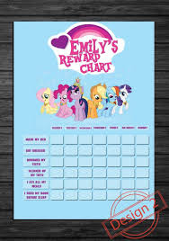 Customized My Little Pony Kids Rewards Chart Sticker Charts