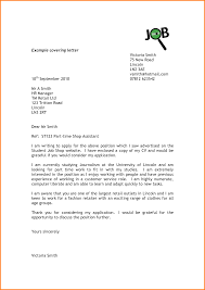 Date On Cover Letters Cover Letter For Student Part Time Job Example Letters
