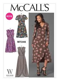 Wrap Dress Sewing Pattern Impressive M48 Misses'Miss Petite Tucked Wrap Dresses Sewing Pattern