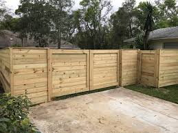 horizontal wood fence. Beautiful Fence Florida Fence Contractor Horizontal Wood Fencing  Intended O