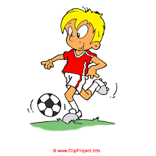 playing cartoon cartoon football clipart