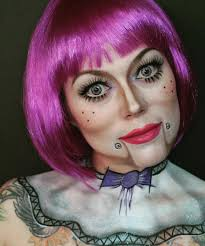 mime puppet makeup