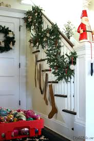 Full Image for Banister Christmas Garland My Cozy Home Tour Love This Lush  Garland On The ...