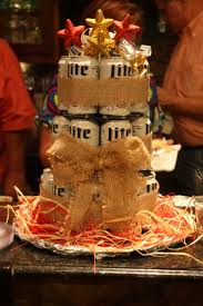 Perfect birthday centerpiece for that man who loves beer! Thanks Constance  Harris Designs for this