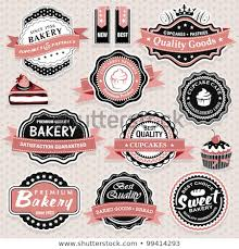 Vintage Food Labels Collection Vintage Retro Food Labels Badges Stock Vector Royalty