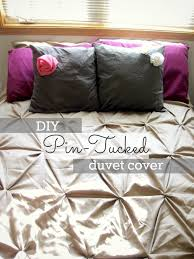 diy pin tucked duvet cover