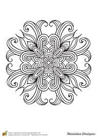 Coloriage Mandala Ethnique Fleur G Om Trique