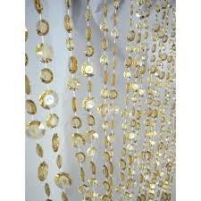 3 x 6 foot beaded curtain panels champagne large diamond cut acrylic beaded