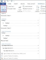 Word Thesis Template Word For Thesis Fig 8 Office 2007 Table Of Contents