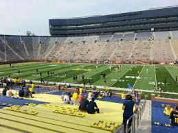 Seating Chart Michigan Football Stadium Michigan Stadium Section 43 Home Of Michigan Wolverines