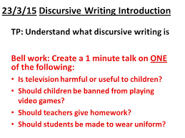 discursive essay writing ppt 2