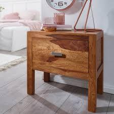 Finebuy Nachttisch Massiv Holz Sheesham Nacht Kommode 40 Cm 1