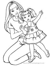Old Barbie Coloring Pages Psubarstoolcom