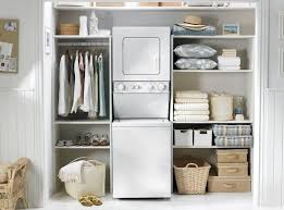 shelving units for small spaces. Wonderful For Fine Laundry Room Featuring Stackable Drying And Washing Utility Plus Open Shelves  Storage Units With Tension Rod Clothing Rack Wicker Baskets Inside Shelving For Small Spaces L