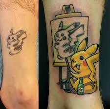 Tattoo Artist Turns This Terrible Pikachu Tattoo Into A Work Of Art