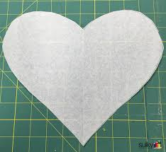 cut out the heart this is now your template so if you don t like the size or shape just keep trying until you are happy my mug rug