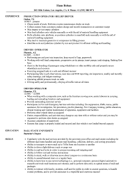 Driver Operator Resume Samples Velvet Jobs Heavy Equipment Cover