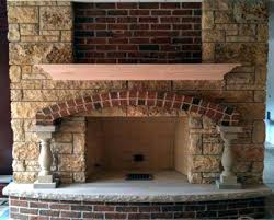 brick and stone fireplace fireplaces natural limestone cost to reface with veneer