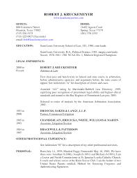 Resume Litigation Attorney Resume